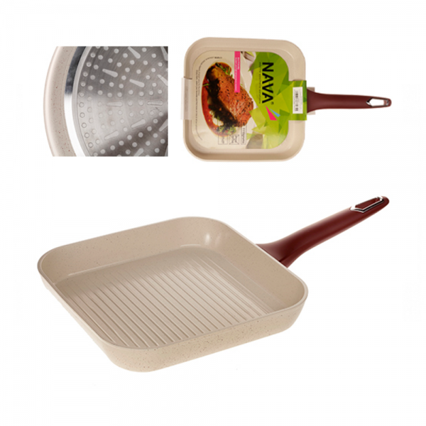 "Tigaie ceramica grill 28 cm ""Eco Friendly"""