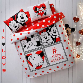 Lenjerie de pat DISNEY, MINNIE & MICKEY DOTTY, TAC