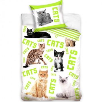 Lenjerie de pat tineret CATS