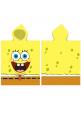 Poncho Sponge Bob, 50x115 cm