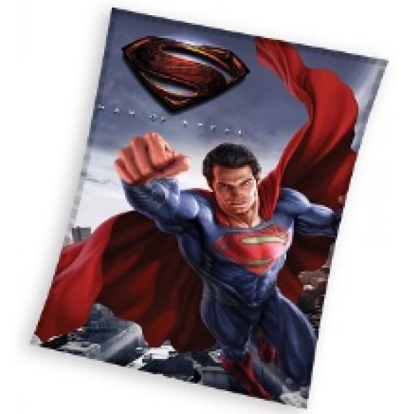Patura Polar Superman MAN OF STEEL, 110x140 cm