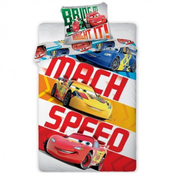 Lenjerie de copii Disney CARS - MACH SPEED