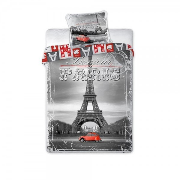 Lenjerie de pat tineret PARIS CITY 04