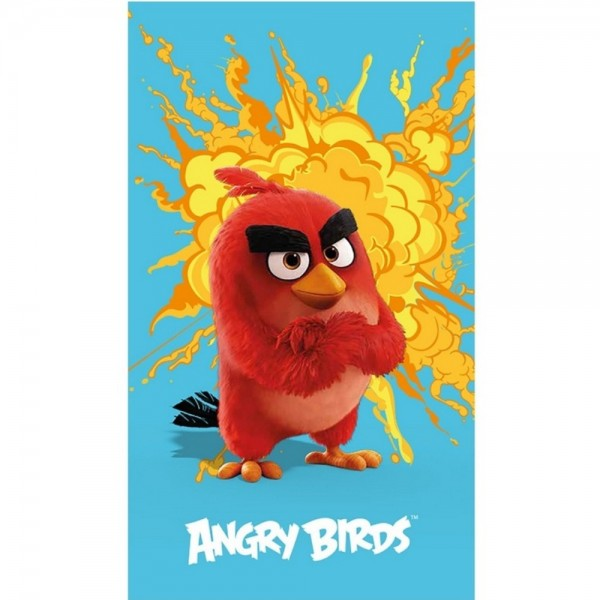 Prosop Bumbac 100% Disney Angry Birds Red