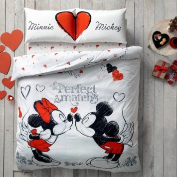 Lenjerie de pat DISNEY, MINNIE & MICKEY MOUSE, TAC