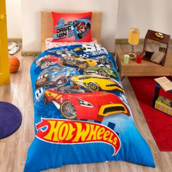 Lenjerie de copii Disney TAC, HOT WHEELS