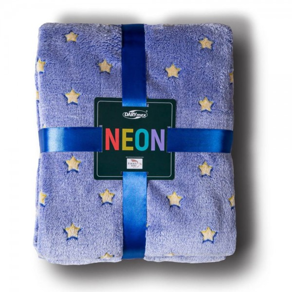 Patura NEON 200x220, BLUE STARS