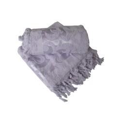Prosop bumbac jaquard cu franjuri 50x90cm, lila