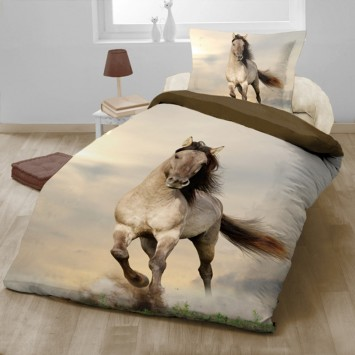 Lenjerie de pat copii HORSE - bumbac Ranforce