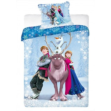 Lenjerie pat copii Disney FROZEN - bumbac Ranforce - Oferta!!