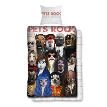 Lenjerie de pat copii PETS ROCK 002 BLX – bumbac Ranforce