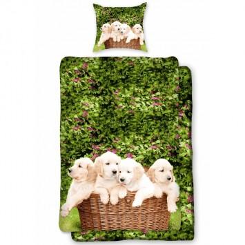 Lenjerie de pat pentru copii Dogs D0012 – bumbac Ranforce