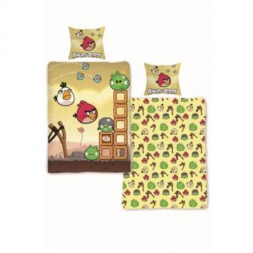 Lenjerie Angry Birds copii - 005 - bumbac Ranforce